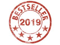 Ετικέτα γραμματοσήμων Grunge για το best-$l*seller 2019 στοκ εικόνες