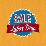 Ετικέτα διακριτικών πώλησης Εργατικής Ημέρας Στοκ Εικόνες
