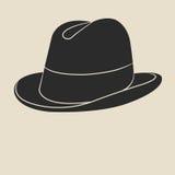 Ετικέτα καπέλων τουίντ Στοκ Εικόνες