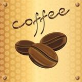 Ετικέτα καφέ Στοκ φωτογραφία με δικαίωμα ελεύθερης χρήσης