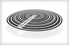 Ετικέτα κώδικα φραγμών τυποποιημένη στο Compact-$l*Disk Στοκ Φωτογραφία