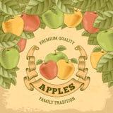 Ετικέτα μήλων Στοκ φωτογραφία με δικαίωμα ελεύθερης χρήσης