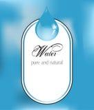 Ετικέτα νερού με την πτώση Ελεύθερη απεικόνιση δικαιώματος