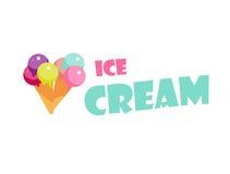 Ετικέτα παγωτού Στοκ εικόνες με δικαίωμα ελεύθερης χρήσης