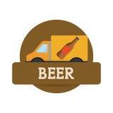 ετικέτα παράδοσης μεταφορών μπύρας φορτηγών ελεύθερη απεικόνιση δικαιώματος