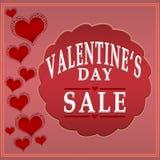 Ετικέτα πώλησης ημέρας βαλεντίνων Στοκ Εικόνες