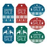 Ετικέτα πώλησης Χριστουγέννων Στοκ Εικόνες
