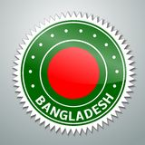 Ετικέτα σημαιών του Μπανγκλαντές Στοκ Εικόνες