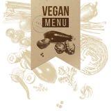 Ετικέτα τεχνών επιλογών Vegan απεικόνιση αποθεμάτων