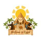 Ετικέτα της Αιγύπτου Στοκ φωτογραφία με δικαίωμα ελεύθερης χρήσης