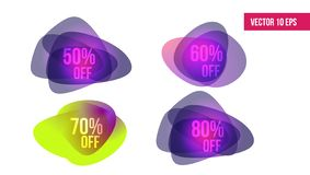 Ετικέτα τιμών προσφοράς έκπτωσης, σύμβολο για τη διαφημιστική καμπάνια στο μάρκετινγκ λιανικού, promo πώλησης ελεύθερη απεικόνιση δικαιώματος