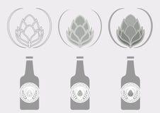 Ετικέτα λυκίσκου μπύρας σημαδιών Στοκ Εικόνες