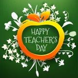 Ετικέτα χαιρετισμών ημέρας δασκάλων Στοκ φωτογραφίες με δικαίωμα ελεύθερης χρήσης