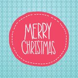 Ετικέτα Χαρούμενα Χριστούγεννας. Υπόβαθρο Χριστουγέννων Στοκ Εικόνες