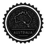 Ετικέτα χαρτών της Αυστραλίας τον αναδρομικό τρύγο που ορίζεται με Στοκ φωτογραφία με δικαίωμα ελεύθερης χρήσης