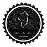 Ετικέτα χαρτών της Γροιλανδίας τον αναδρομικό τρύγο που ορίζεται με Στοκ εικόνες με δικαίωμα ελεύθερης χρήσης
