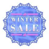 Ετικέτα χειμερινής πώλησης Στοκ Φωτογραφίες