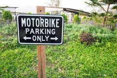 Ετικέτα χώρων στάθμευσης μοτοσικλετών Στοκ φωτογραφία με δικαίωμα ελεύθερης χρήσης