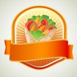 Ετικέτα Kebab διανυσματική απεικόνιση