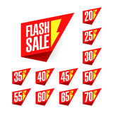 Ετικέτες έκπτωσης πώλησης λάμψης διανυσματική απεικόνιση
