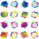 Ετικέτες αυτοκόλλητων ετικεττών μεταλλίων χρώματος διανυσματική απεικόνιση