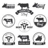 Ετικέτες βόειου κρέατος Στοκ Εικόνες