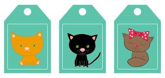 Ετικέτες. Γάτες Στοκ Εικόνες