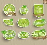 Ετικέτες για τα φυσικά τρόφιμα Στοκ εικόνα με δικαίωμα ελεύθερης χρήσης