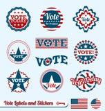 Ετικέτες και αυτοκόλλητες ετικέττες ψηφοφορίας απεικόνιση αποθεμάτων