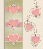 Ετικέτες καρδιών Στοκ Εικόνες