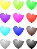 Ετικέτες καρδιών Στοκ Φωτογραφία