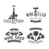 Ετικέτες κρασιού καθορισμένες Στοκ φωτογραφία με δικαίωμα ελεύθερης χρήσης