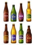 Ετικέτες μπουκαλιών μπύρας Κρύα προγράμματα σχεδίου διακριτικών σκαφών εμπορευματοκιβωτίων ποτών οινοπνεύματος Απεικονίσεις που α διανυσματική απεικόνιση