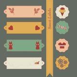 ετικέτες που τίθενται γλυκές Στοκ Εικόνα