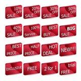 Ετικέτες πώλησης Στοκ εικόνες με δικαίωμα ελεύθερης χρήσης