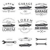 Ετικέτες υπηρεσιών αυτοκινήτων Στοκ Εικόνες