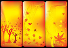 ετικέτες φθινοπώρου διανυσματική απεικόνιση