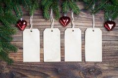 Ετικέτες Χριστουγέννων Στοκ Εικόνες