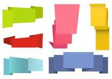 Ετικέτες Origami καθορισμένες Στοκ εικόνα με δικαίωμα ελεύθερης χρήσης