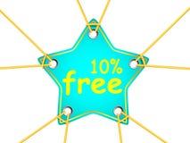 ετικέττα αστεριών Στοκ εικόνα με δικαίωμα ελεύθερης χρήσης