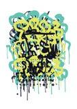 Ετικέττα γκράφιτι Στοκ Εικόνα