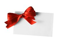 ετικέττα δώρων Στοκ φωτογραφίες με δικαίωμα ελεύθερης χρήσης