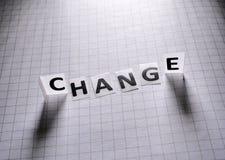 Ετικέττα εγγράφου αλλαγής στοκ εικόνες