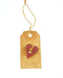 ετικέττα καρδιών Στοκ Φωτογραφία