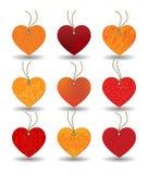 ετικέττα καρδιών διανυσματική απεικόνιση