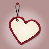 Ετικέττα καρδιών Στοκ φωτογραφία με δικαίωμα ελεύθερης χρήσης