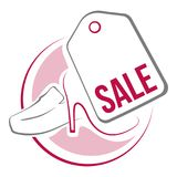 Ετικέττα πώλησης παπουτσιών ελεύθερη απεικόνιση δικαιώματος