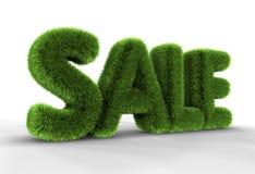 ετικέττα πώλησης χλόης Στοκ Εικόνες