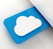 Ετικέττα σύννεφων Στοκ Εικόνες