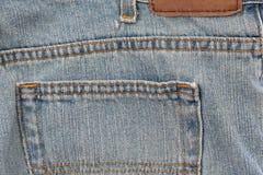 ετικέττα τζιν παντελόνι Στοκ φωτογραφία με δικαίωμα ελεύθερης χρήσης